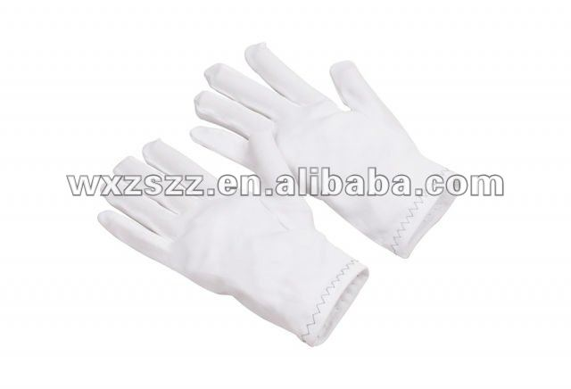 White nylon interlock parade glove With Great Low Price