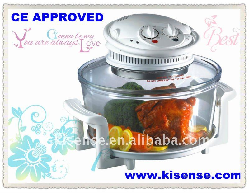 CE approved removable glass tank halogen oven