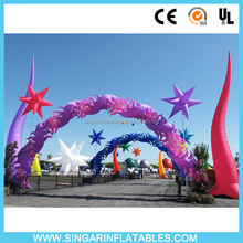 Party arch decorative inflatables,inflatables with led lights for arch decor,stage inflatables