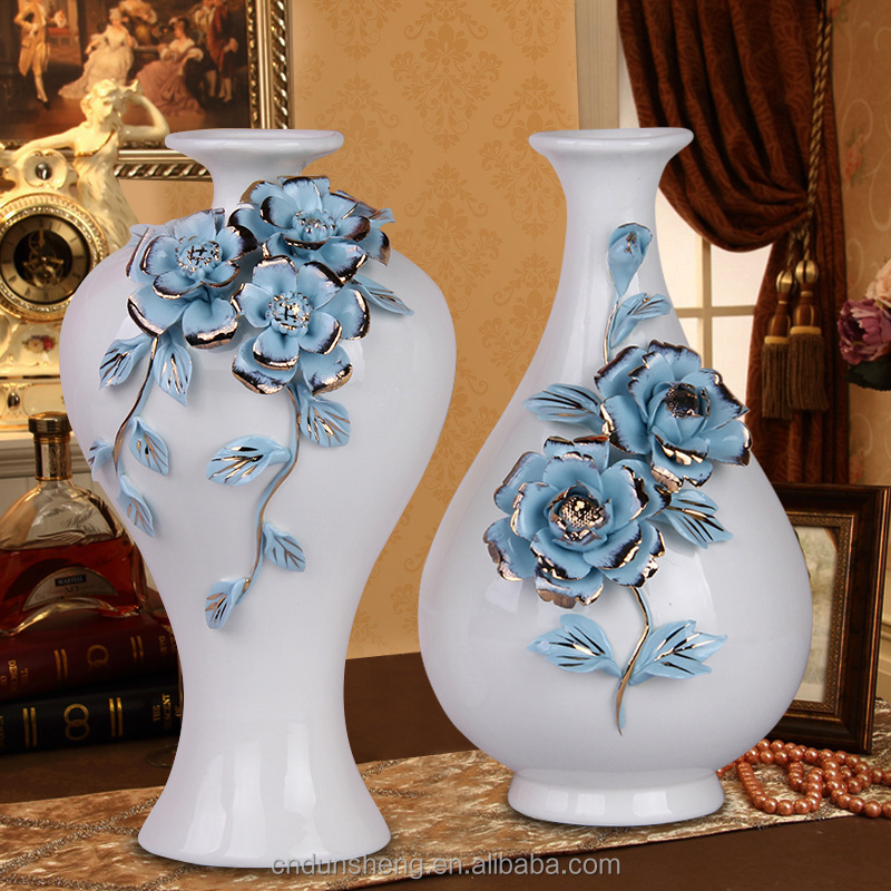 Modern china home decor centerpieces porcelain flower vase for Home furnishing china