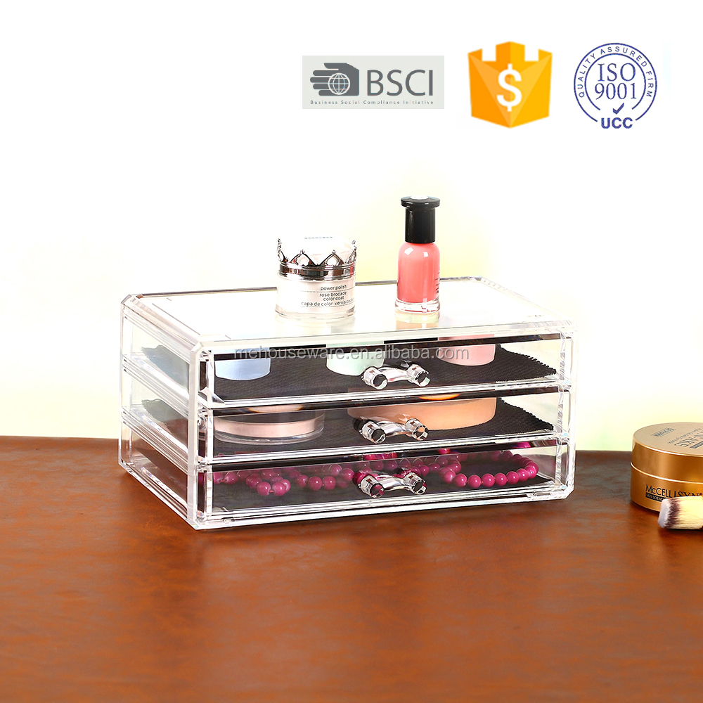 Eye black jewelry display case/Clear Acrylic cosmetic organizer