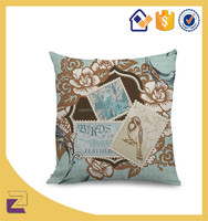 Retro Blend Throw Pillow Case Floral Vintage Postcard Style Cushion Covers 18*18 Inch