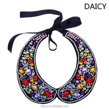 DAICY wholesale fashion women exaggerrated Fake collar crystal bib necklace