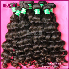 Natural Color 1B #2 #4 Brazilian Hair Weaving Natural Wave Hair Extension