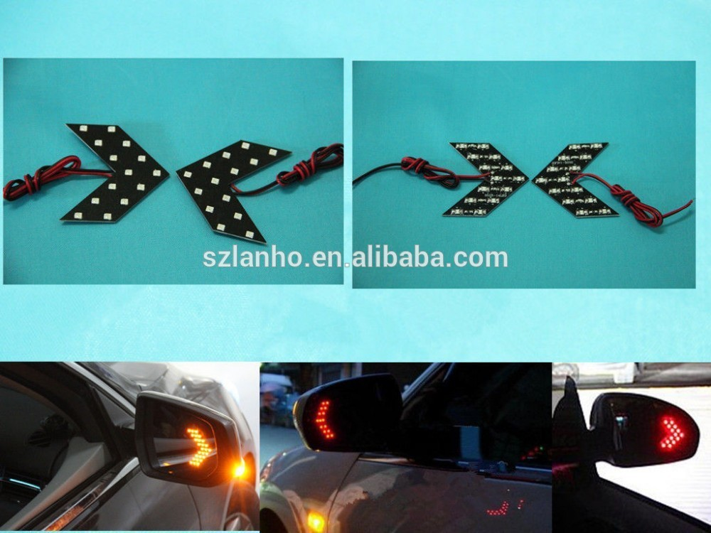 14-SMD LED 3528 Arrow Panels for Car Side Mirror Turn Signal Lights cheap diy led light and flexible led panel