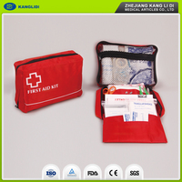 KLIDI Wholesale Price Portative Red Color Bags Mini Survival Small First Aid Kit Earthquake