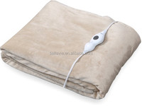 3 Heating Settings and Safety Overheat Bellavie Electric Heat Blanket with Detachable Controller