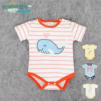2016 baby kids summer lovely animal shape cotton triangle bodysuit clothes 0-2 years