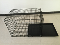 Double Doors Colored Metal Folidng Pet Crate/Dog Cage Supplier