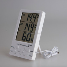 KT-905 max-min LCD digital lcd temperature and humidity meter clock