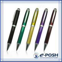 Carbon fiber signing calligraphy metal parker refill gel ink luxury ball-point gift pen