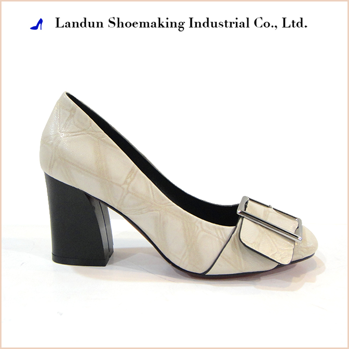 Top quality ladies mid heel chunky heel shoes for wedding