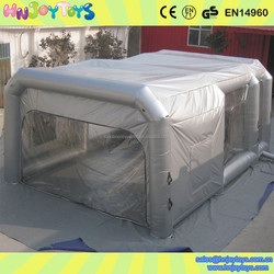 Mobile inflatable paint tent for car repair, giant inflatable spray booth, portable paint booths