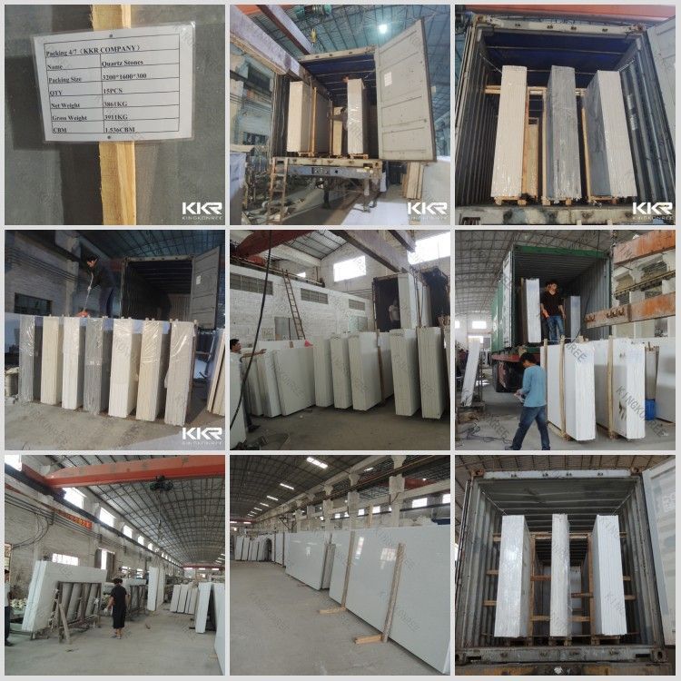 FCL Container Loading Artificial Quartz Stone Slabs/Artificial Marble Slabs/Quartz Stone Surface