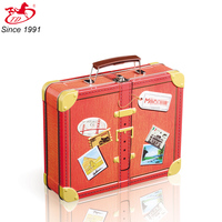 suit case metal tin box with lock and plastic handle for package