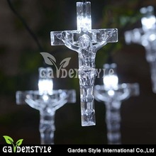 Transparent Plastic Cross Design christmas lighting decorations outdoor