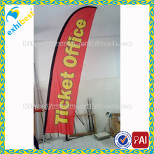2016 Advertising Feather Beach Flags/Custom Advertising outdoor teardrop flying feather flag pole&beach flags