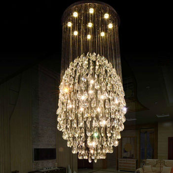 Luxury crystal chandelier pendant light