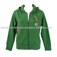 Women's Embroidered Hoodie Varsity Jacket