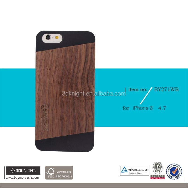 For iPhone 6 Wooden Bamboo Pattern Design Hard Back Wood Case Cover