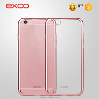 EXCO ultrathin camera protect PC rose gold 6s blank cell electroplate phone case for iphone 6s mobile phone
