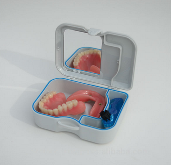 Dental Supply Wholesale Dental Product Multicolored Plastic Denture Box With Mirror