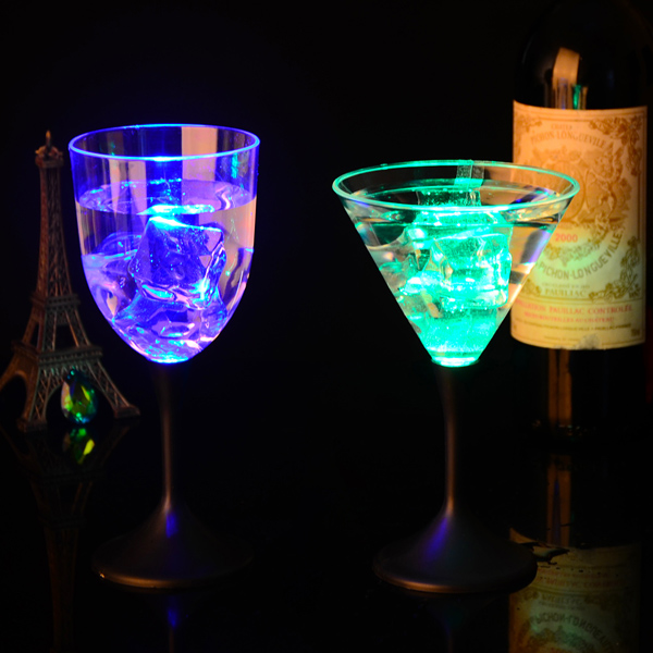 cool New Design LED Flashing Martini Glass,60ml Glass with light