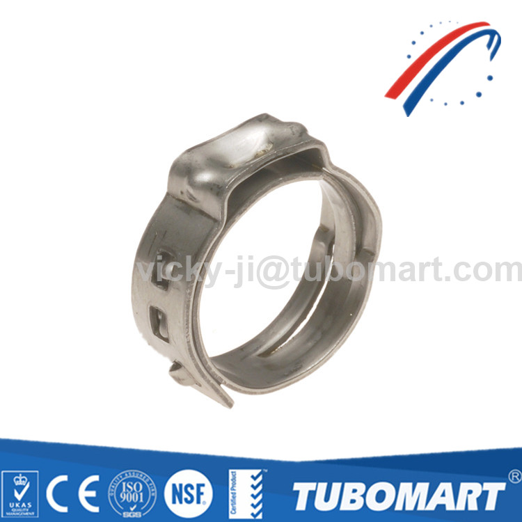 Flexible connect stainless steel PEX pinch clamp crimp ring for pex pipe