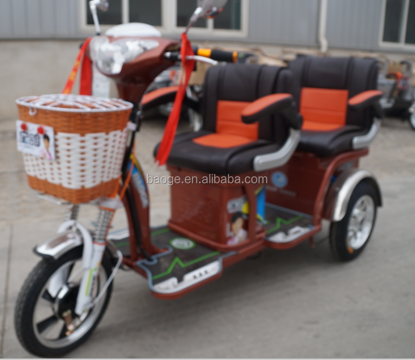 Electric tricycle with passenger seat with 3 wheel