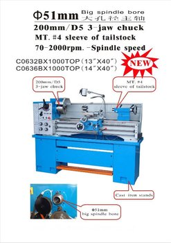 large spindle hole lathe 51mm