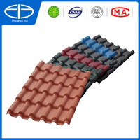 2016 high quality cheap price bamboo style ASA coated spanish terracotta plastic PVC synthetic resin roof tile/ASA PVC roof tile