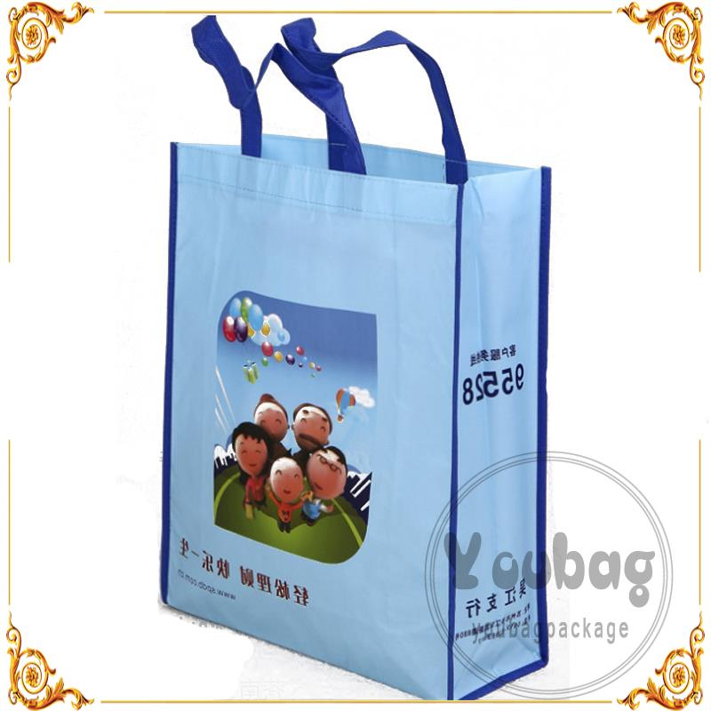 costume shopping bag green non woven tote bag organic cotton bags promotion