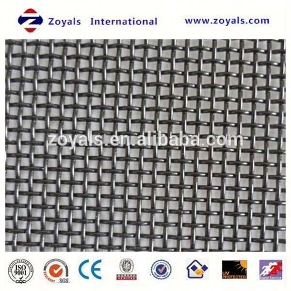crimped wire mesh/mine screen mesh/mine sieve screen wire mesh Exporter ISO9001