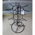 Black Metal Tabletop Rotating Jewelry Display Stand