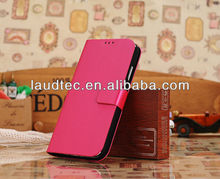 Flip Folding Drawbench PU Leather Wallet Case Cover For Samsung Galaxy S4 I9500,New Arrival,Unique Design