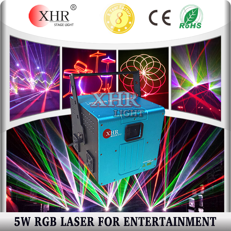 Hot Selling Full Color 5 watt Laser Lights Display System For Disco Pub