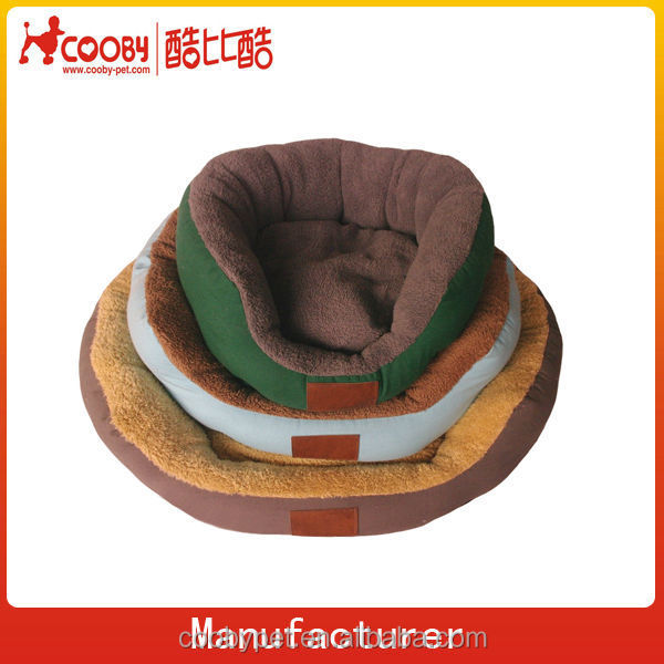 Coobypet round plush covered pet dog beds