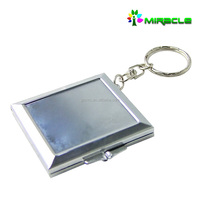 2016 new hot products mirror metal key chain for sublimation