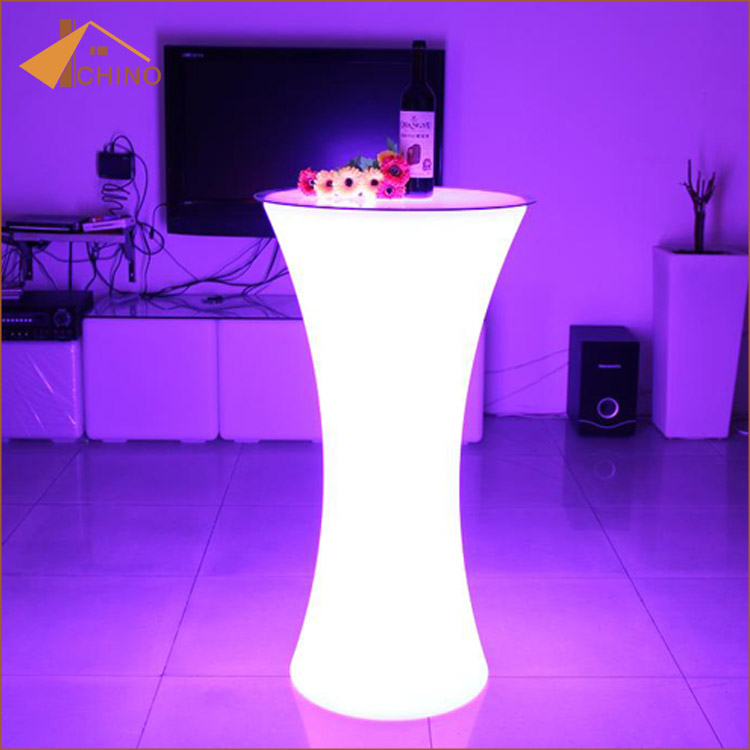 Lighted up led <strong>bar</strong> table cocktail table for party event use