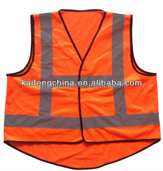 Running reflective vest with pocket in yellow color KF-222