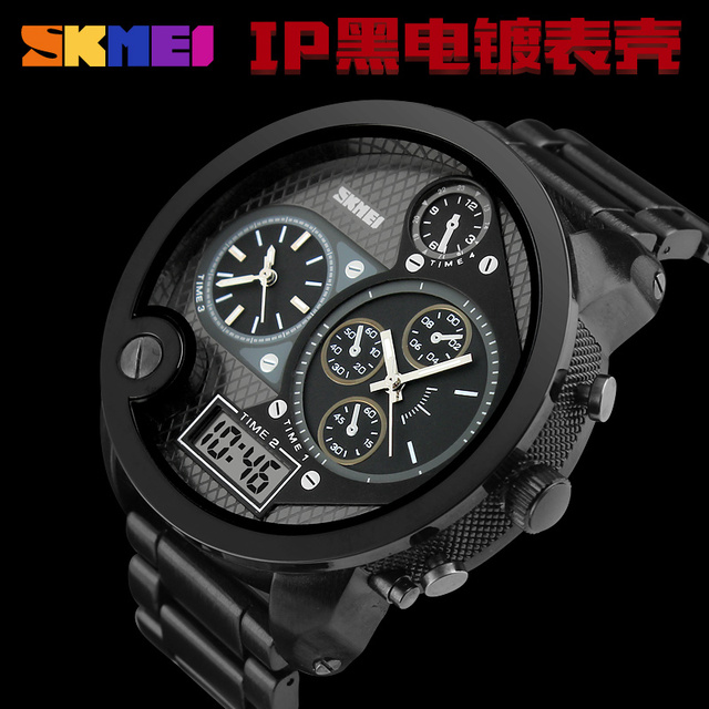 Military Army Watch Japan Movement Rose Gold Black Hand Watch For Men