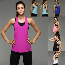 Hot promotion wholesale dry fit plain polyester gym fitness womens tank top custom