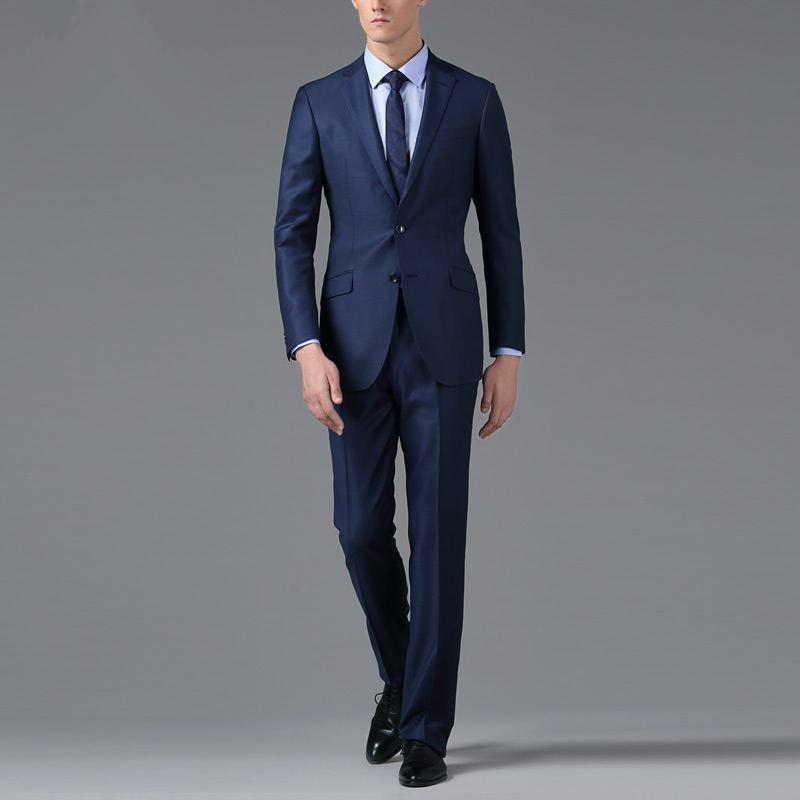 Men's Navy Slim Fit Suits in Italian Style, View Men Slim Fit ...