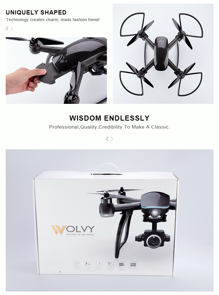 quadcopter remote control professional HD 1080 camera drone GPS for aerial photography
