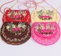 Embroidery flower mini cute kids girls bags for school