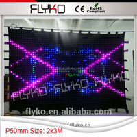 HOT WLK-1P18 Black fireproof Velvet cloth RGB 3 in 1 led curtain backdrop red color led star cloth curtain