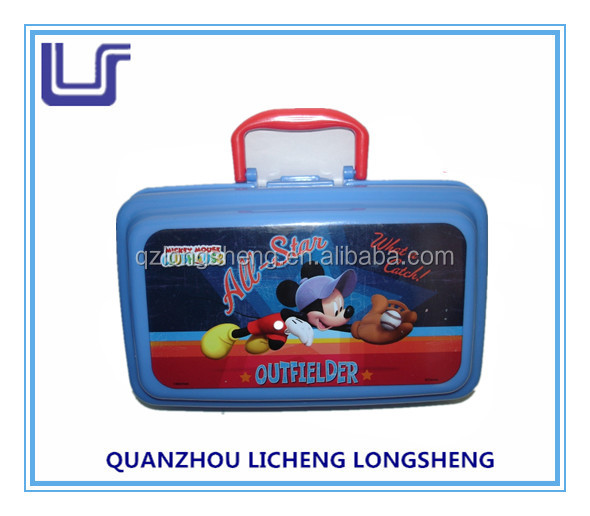 hard plastic lunch box with handle,plastic lunch box for kids , plastic lunch box
