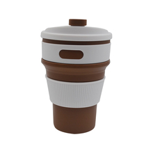 WHOLESALE leak-proof lid design folding silicone travel coffee cup