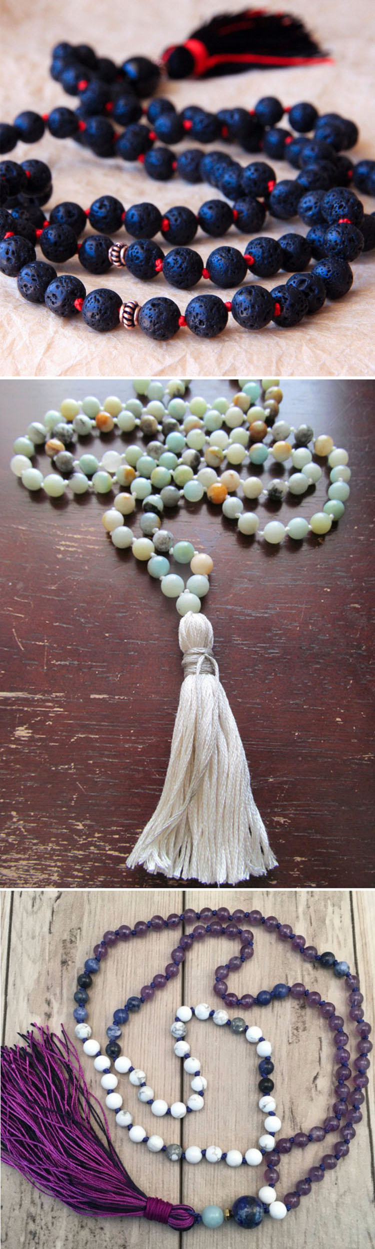 2018 new buddhist prayer beads 108 Mala Beads tassel necklace