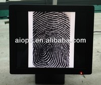 15 inch point of sale support finger print identification/POS with finger print scanner